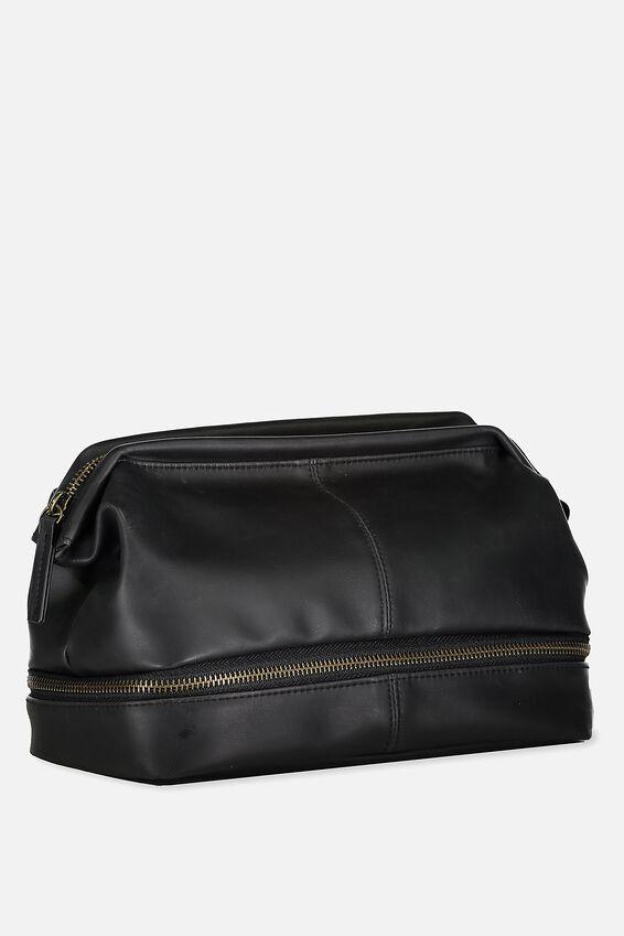 Debonair Wash Bag, BLACK