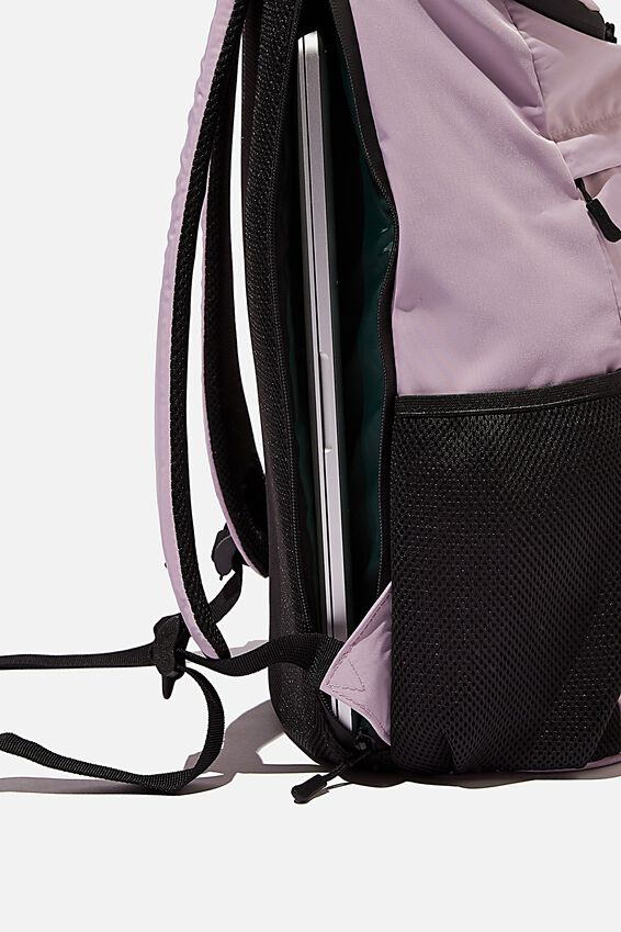 Utility Recycled Backpack, HEATHER AND DEEP GREEN