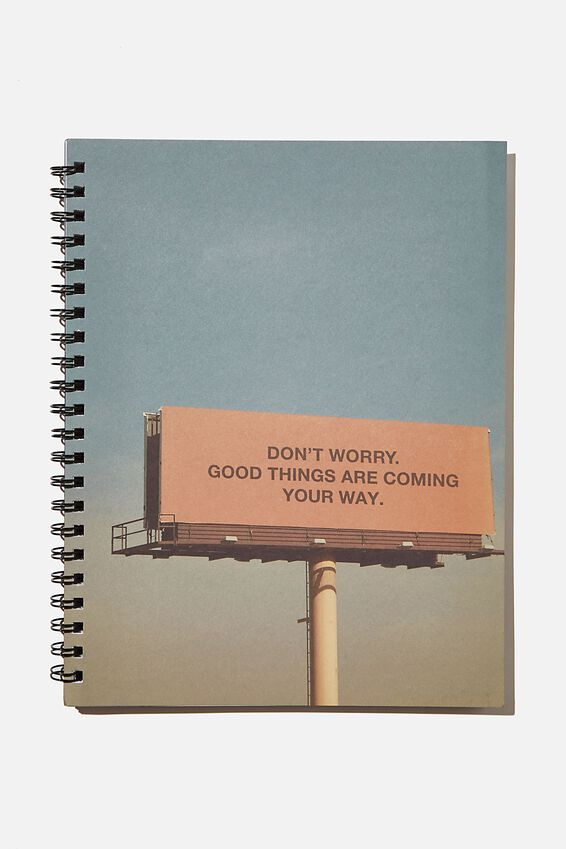 A4 Campus Notebook Recycled, GOOD THINGS ARE COMING SIGN