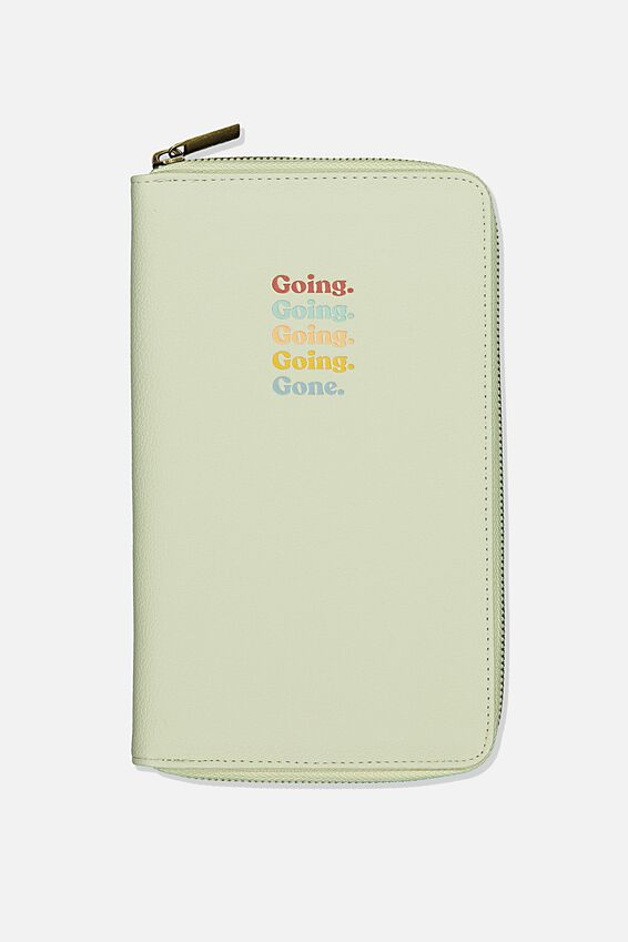 Rfid Odyssey Travel Compendium Wallet, WASHED SAGE QUOTE