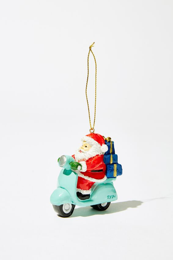 Christmas Ornament, SCOOTER SANTA