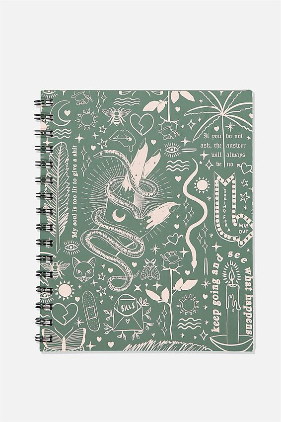 A5 Campus Notebook Recycled, KEEP GOING