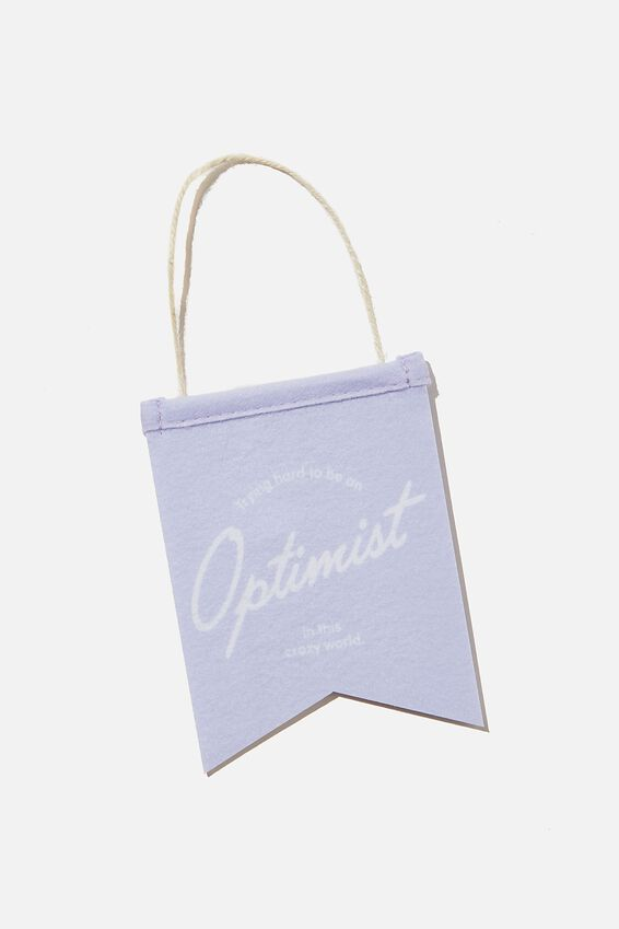 Mini Pennant Flag, OPTIMIST