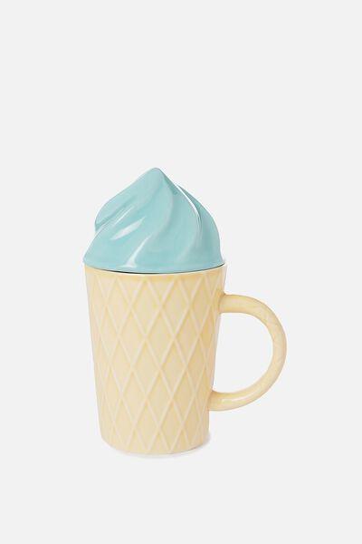 Novelty Shaped Mug, ICE CREAM BLUE