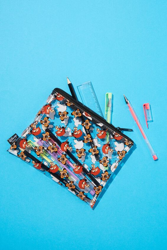 Lion King Clear It Pencil Case, LCN DIS TIMON AND PUMBAA