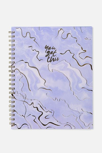 A4 Campus Notebook - 240 Pages, YOU GOT THIS CORNFLOWER AGATE