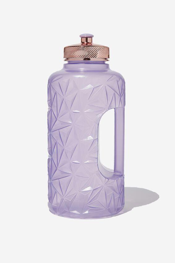 Faceted Drink Bottle, PURPLE