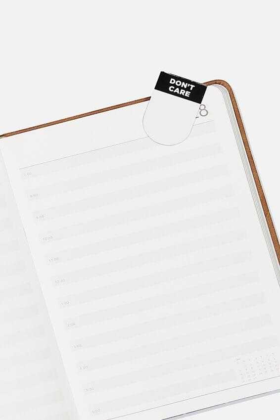 6Pk Magnetic Bookmark, BLACK & WHITE
