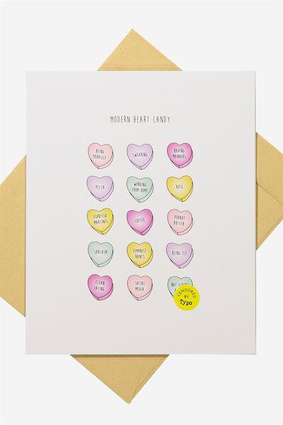 Funny Birthday Card, MODERN HEART CANDY!!