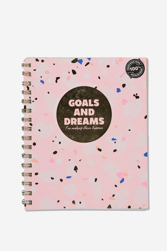 A5 Campus Notebook Recycled, GOALS & DREAMS
