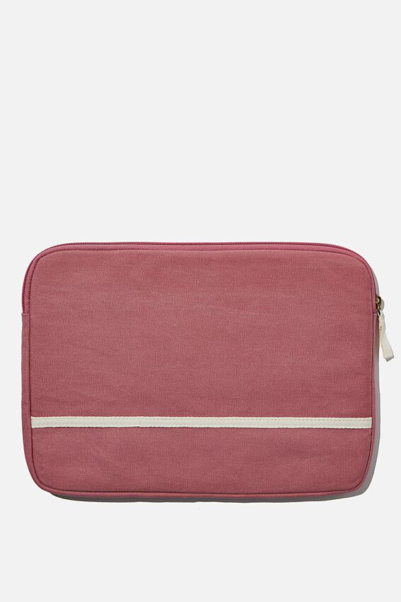 Canvas 13 Inch Laptop Case, DUSTY ROSE