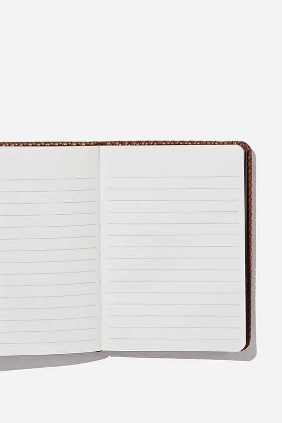 A6 Buffalo Journal, BROWN BASKET WEAVE
