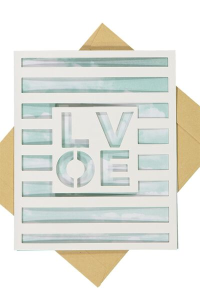 Premium Love Card, LOVE CLOUD DIECUT