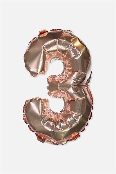Foil Number Balloons, ROSE GOLD 3