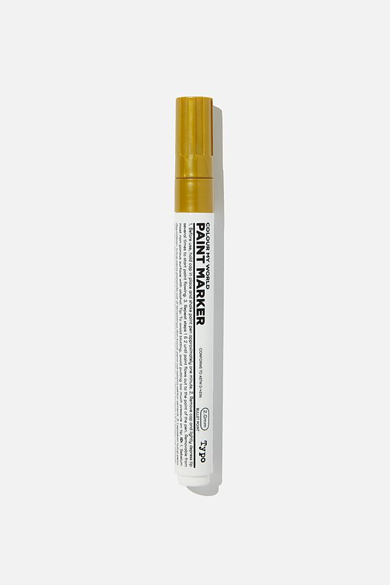 Colour My World Paint Marker, GOLD