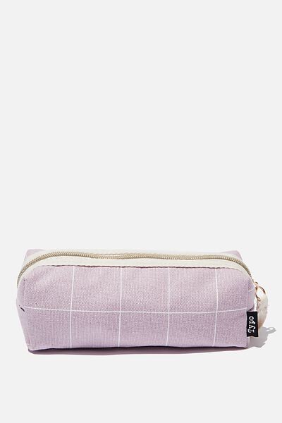 Bailey Pencil Case, HEATHER GRID