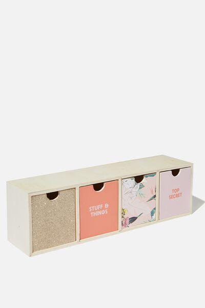 Quick Desk Drawer Storage, BIRDS OF PARADISE