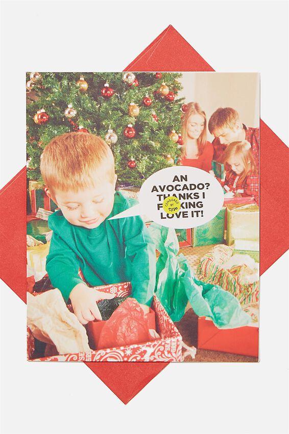 Christmas Card 2020, I F*CKING LOVE IT AVOCADO!!