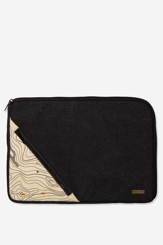 Premium Laptop Case 13 inch, BLACK MAP
