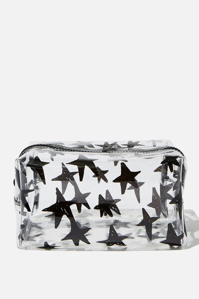 Made Up Cosmetic Bag, STARS ON CLEAR