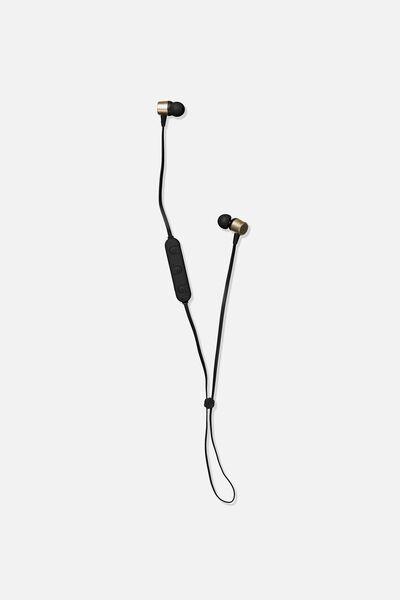 Active Wireless Earphones, BLACK & GOLD