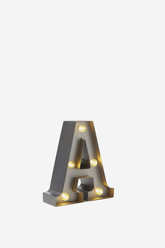 Mini Marquee Letters 10Cm, SILVER A