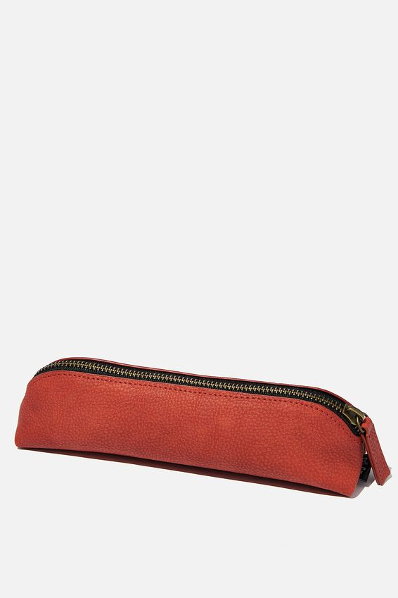 Buffalo Barrel Pencil Case, RUST