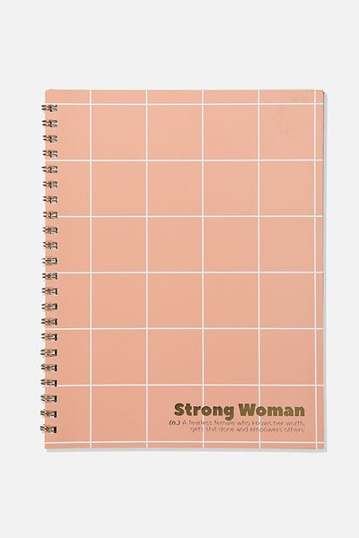 A4 Campus Notebook Recycled, STRONG WOMEN