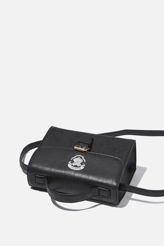 Harry Potter Mini Nuevo Satchel Bag, LCN WB BLACK HARRY POTTER EMBLEM