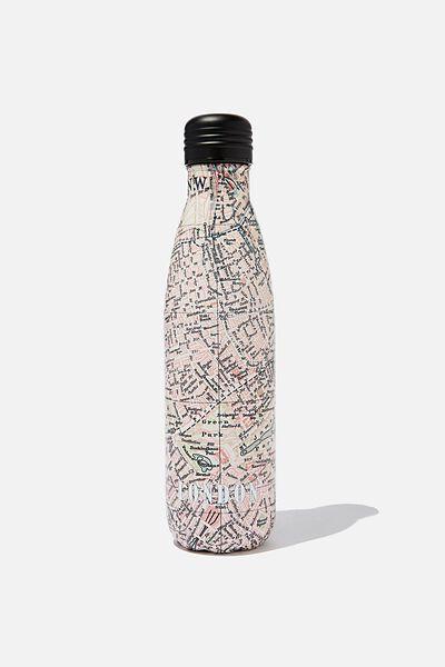 Metal Drink Bottle, LONDON MAP