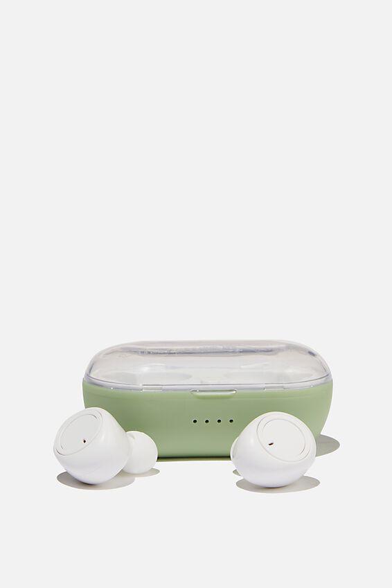 Wireless Earbuds, ALLY GREEN