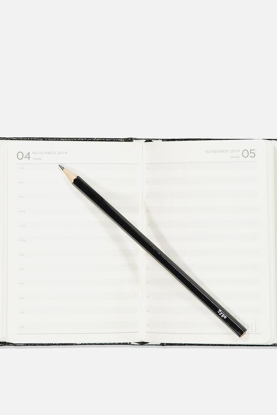 2019 20 A6 Daily Buffalo Diary, BLACK GLITTER