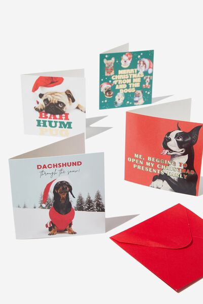 20 Christmas Card Pack 2019, DOGS