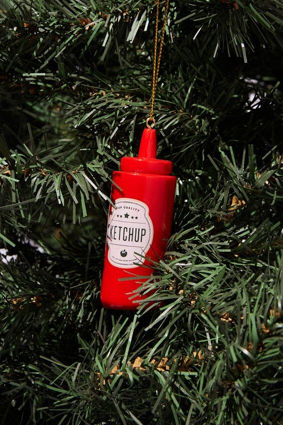 Resin Christmas Ornament, KETCHUP