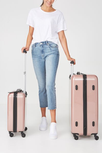 Suitcase Luggage Set, METALLIC ROSE GOLD