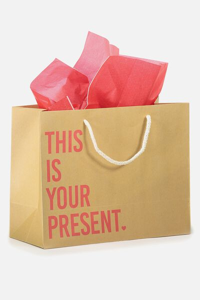 Stuff It Gift Bag Medium With Tissue Paper, THIS IS YOUR PRESENT