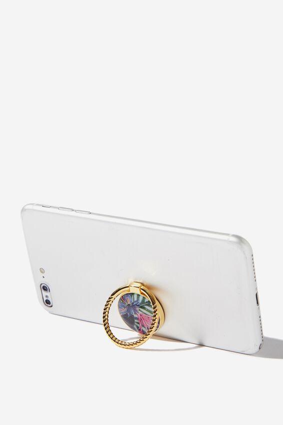 Metal Phone Ring, RESORT FLORAL