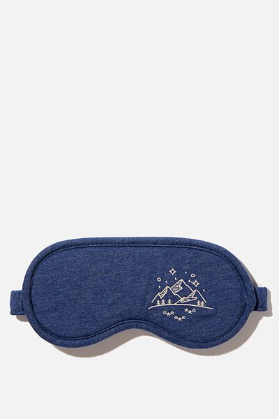 Premium Sleep Eye Mask, NAVY MARLE MOUNTAINS