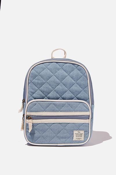 Nano Backpack Dm, DENIM QUILTED