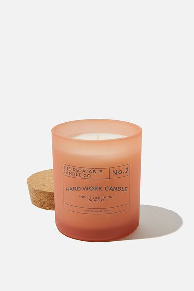 Relatable Quote Candle, PEACH NOT DOING IT