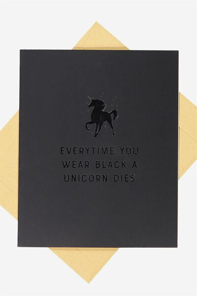 Blank Card, BLACK UNICORN
