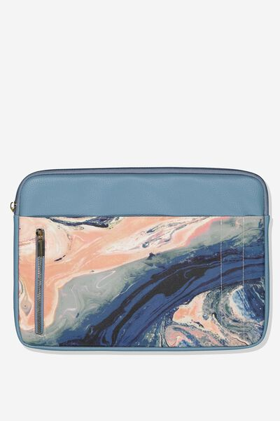 Take Charge Laptop Cover 13 inch, MOODY MARBLE