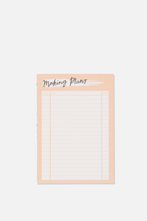 A5 Plan Ahead Planner, MAKING PLANS PINK