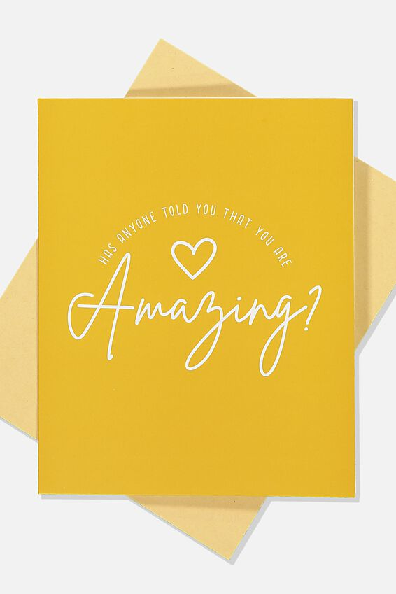 Love Card, YOU ARE AMAZING MUSTARD