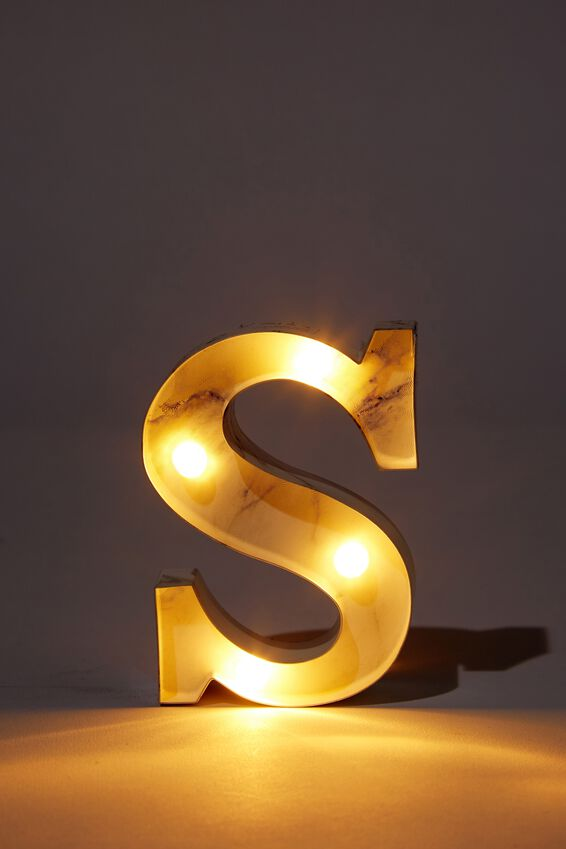 Mini Marquee Letter Lights 10cm, MARBLE S