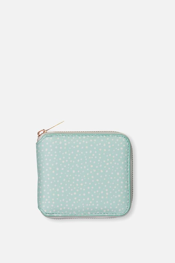 Everyday Wallet, AQUA POLKA