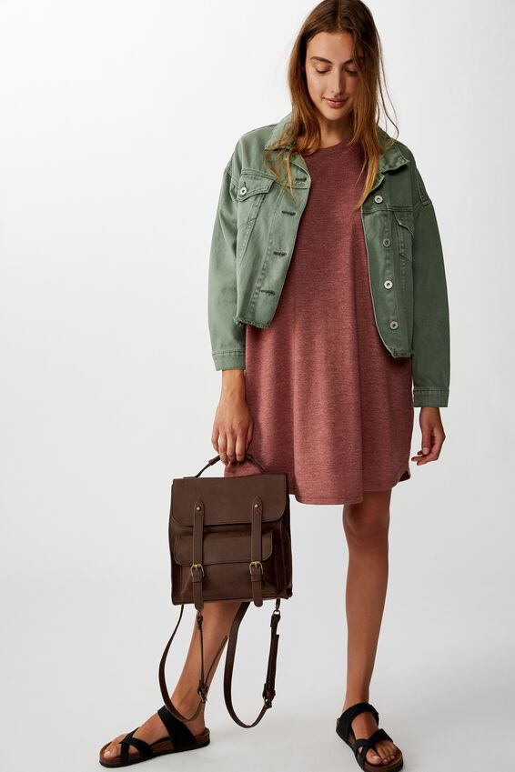 Buffalo Satchel Backpack, RICH TAN