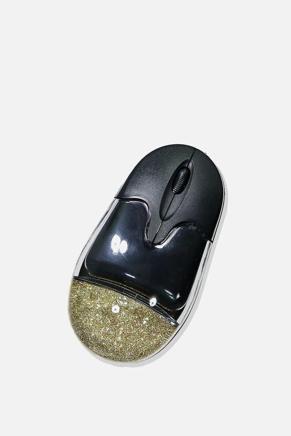 Shake It Wireless Mouse, BLACK & GOLD STARS