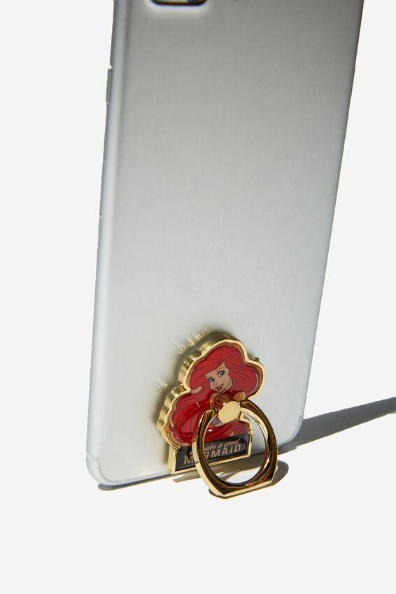 Little Mermaid Metal Phone Ring, LCN DIS ARIEL