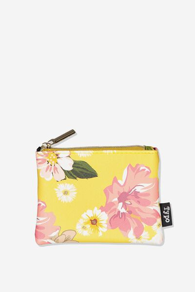 Fashion Coin Purse, MUSTARD FLORAL